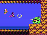 Adventure Island 2 Water Boss. with Ihtio Dino