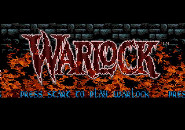 Титульный экран из игры Warlock / Чернокнижник