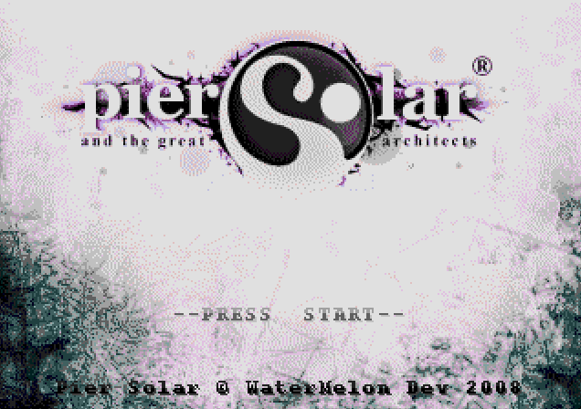 Титульный экран из игры Pier Solar / Солнечная Пристань