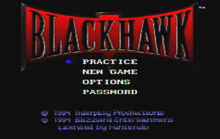 Титульный экран из игры BlackHawk / БлэкХоук