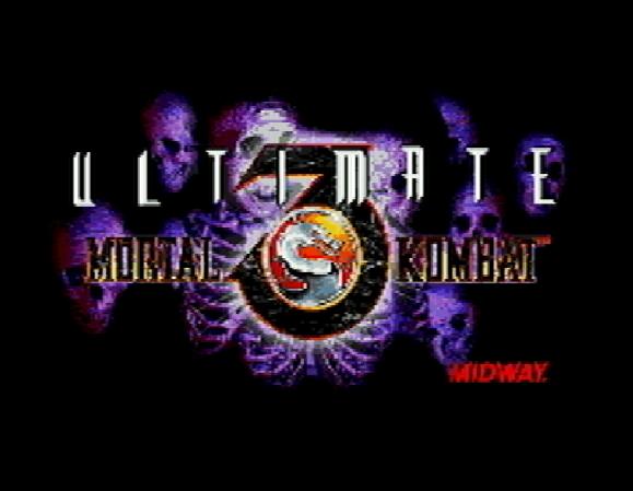 Титульный экран из игры Ultimate Mortal Kombat 3 / Смертельная Битва 3 Завершающая