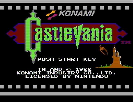 Титульный экран из игры Castlevania / Кастлевания