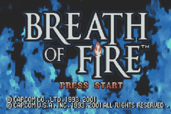 Титульный экран из игры Breath of Fire / Дыхание Огня