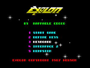 Титульный экран из игры Exolon (1987) / Эксолон