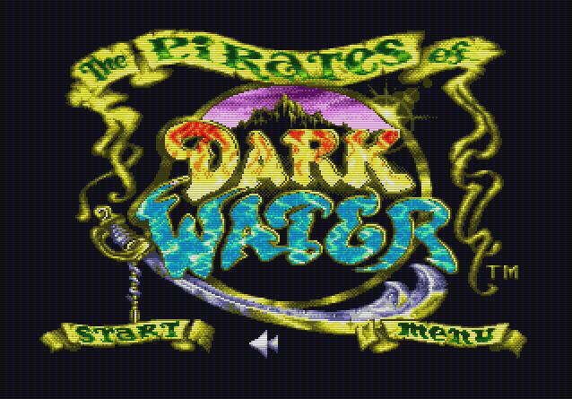 Титульный экран из игры Pirates of Dark Water the / Пираты Тёмной Воды