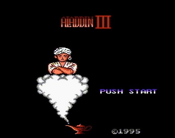 Титульный экран из игры Aladdin 3 / Аладдин 3