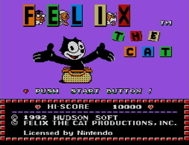 Титульный экран из игры Felix the Cat / Кот Феликс