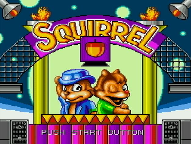 Титульный экран из игры Squirrel King (Chip and Dale) / Король Бурундуков