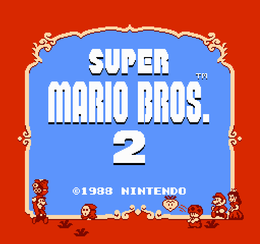 Титульный экран из игры Super Mario Bros. 2 / Супер братья Марио 2