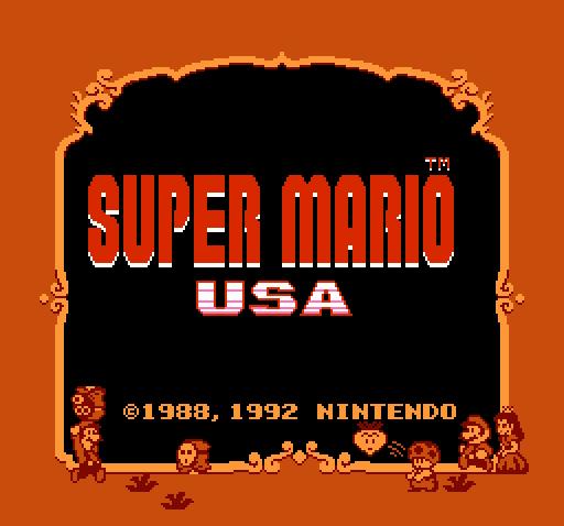 Титульный экран из игры Super Mario USA / Супер братья Марио USA