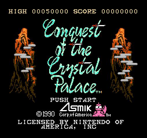 Титульный экран из игры Conquest of the Crystal Palace / Завоевание Хрустального Дворца