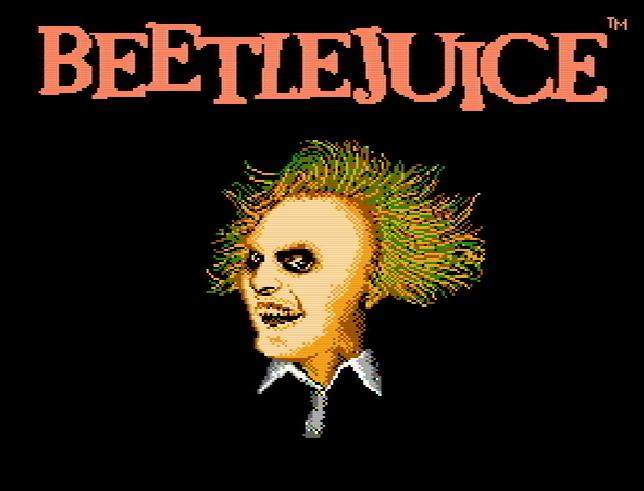 Титульный экран из игры Beetlejuice / Битлджус