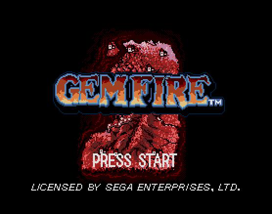 Титульный экран из игры Gemfire / Драгоценный Огонь (Гемфайр)