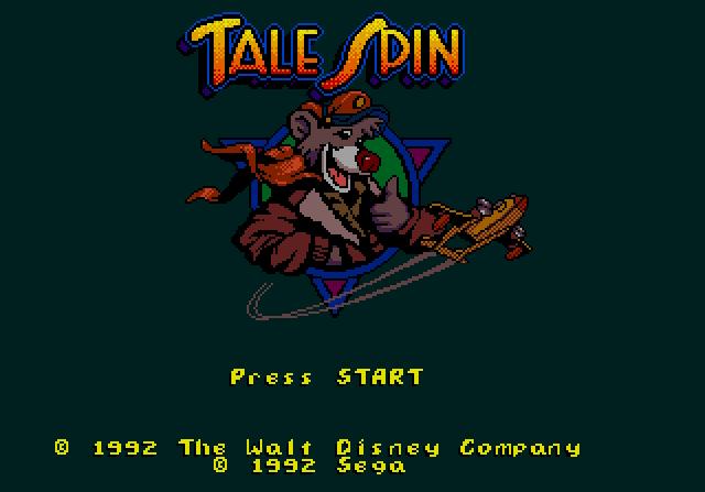 Титульный экран из игры TaleSpin / Чудеса на Виражах