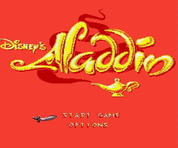 Титульный экран из игры Aladdin / Аладдин