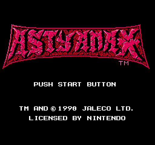 Титульный экран из игры Astyanax / Астианакс