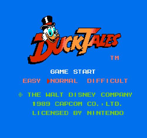 Титульный экран из игры DuckTales / Утиные Истории