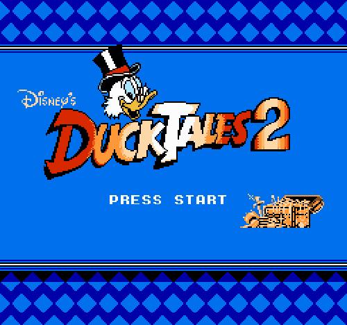Титульный экран из игры DuckTales 2 / Утиные Истории 2