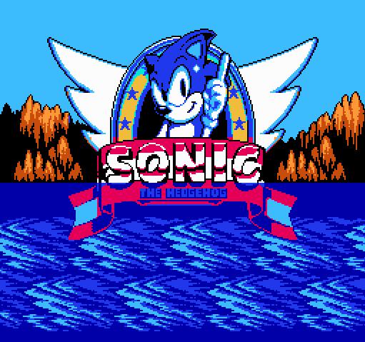 Титульный экран из игры Sonic The Hedgehog / Ёж Соник