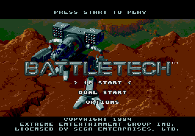 Титульный экран из игры Battletech / Баттлтек (Боевая Техника)