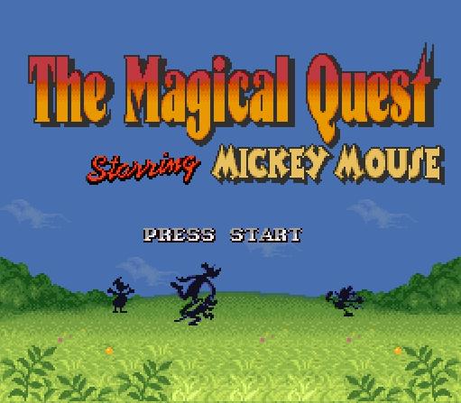 Титульный экран из игры Magical Quest Starring Mickey Mouse, The / Магические Приключения Микки Мауса