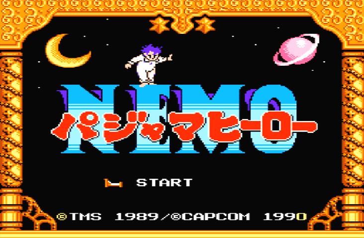 Титульный экран из игры Pajama Hero Nemo (パジャマヒーローNemo) / Немо. Маленький Герой в Пижаме