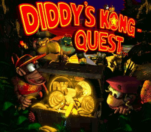 Титульный экран из игры Donkey Kong Country 2 - Diddy's Kong Quest / Страна Донки Конга 2 - Приключение Дидди Конга