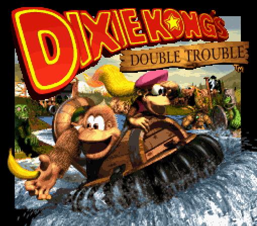 Титульный экран из игры Donkey Kong Country 3 - Dixie Kong's Double Trouble / Страна Донки Конга 3 Двойные Проблемы Дикси Конга
