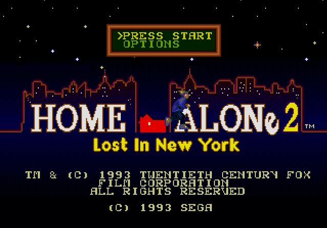 Титульный экран из игры Home Alone 2  Lost in New York / Один Дома 2 Потерянный в Нью Йорке.