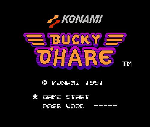 Титульный экран из игры Bucky O'Hare / Баки О'Харе