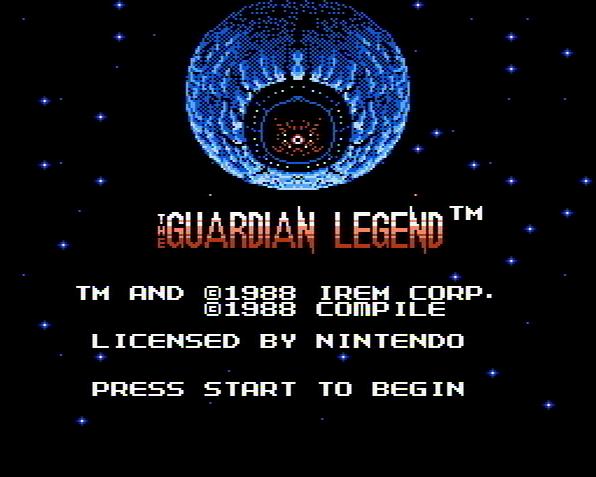 Титульный экран из игры Guardian Legend, The / Легенда о Стражнике