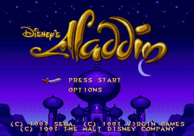 Титульный экран из игры Aladdin (Disney's Aladdin) / Аладдин