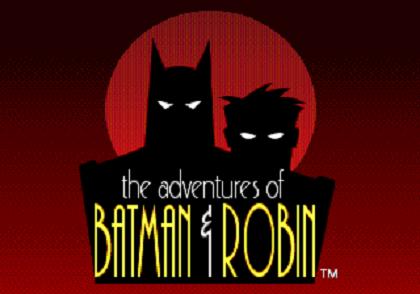 Титульный экран из игры Adventures of Batman and Robin / Приключения Бэтмена и Робина