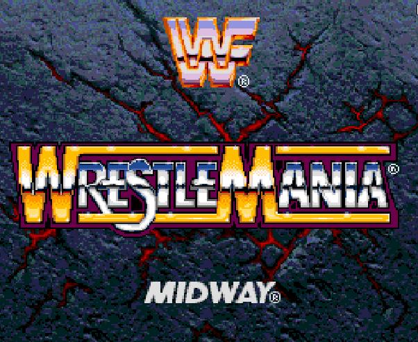 Титульный экран из игры WWF WrestleMania: The Arcade Game / Рестлемания: Аркадная