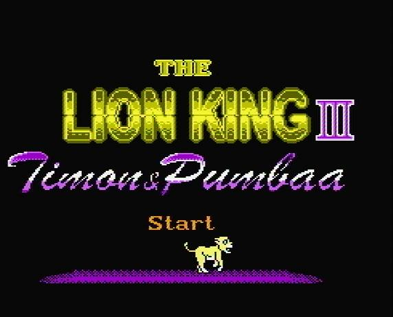 Титульный экран из игры Lion King III, The - Timon and Pumbaa / Король Лев 3 Тимон и Пумба