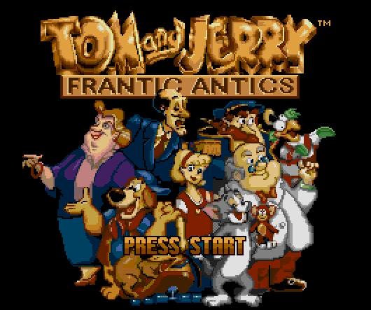 Титульный экран из игры Tom and Jerry - Frantic Antics / Том и Джерри - Невыносимые Выходки