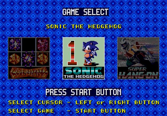 Титульный экран из игры Genesis 6-Pak / Дженесис 6-Пак