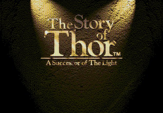 Титульный экран из игры Beyond Oasis (Story of Thor, The - A Successor of The Light) / По другую сторону Оазиса - История Тора