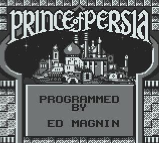 Титульный экран из игры Prince of Persia / Принц Персии