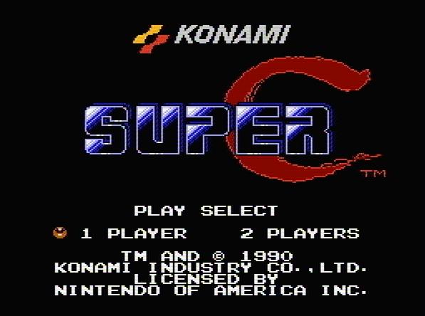 Титульный экран из игры Super C / Супер К