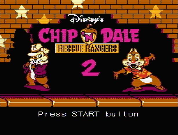 Титульный экран из игры Chip 'n Dale Rescue Rangers 2 / Чип и Дейл Отважные Спасатели 2