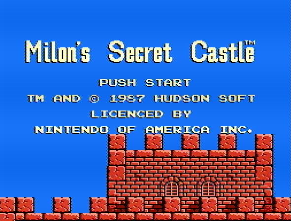 Титульный экран из игры Milon's Secret Castle / Тайный Замок Милона