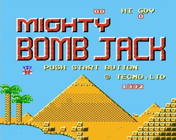 Титульный экран из игры Mighty Bomb Jack / Майти Бомб Джек