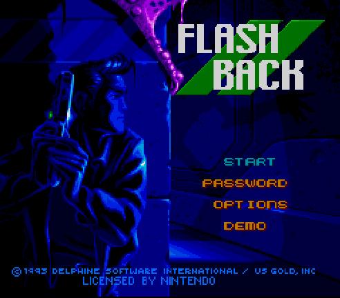 Титульный экран из игры Flashback: The Quest for Identity / Вспышка Памяти