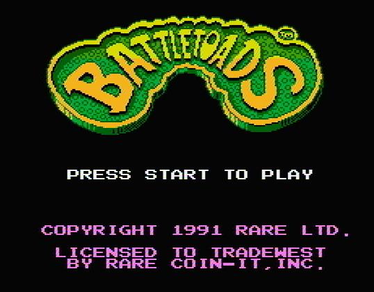 Титульный экран из игры Battletoads / Боевые Жабы