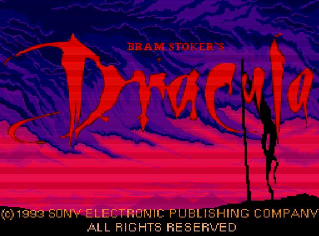 Титульный экран из игры Bram Stoker's Dracula / Дракула Брэма Стокера