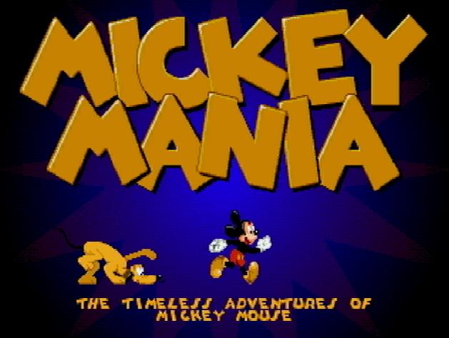 Титульный экран из игры Mickey Mania: The Timeless Adventures of Mickey Mouse / Микки Маус Приключения в Безвременье