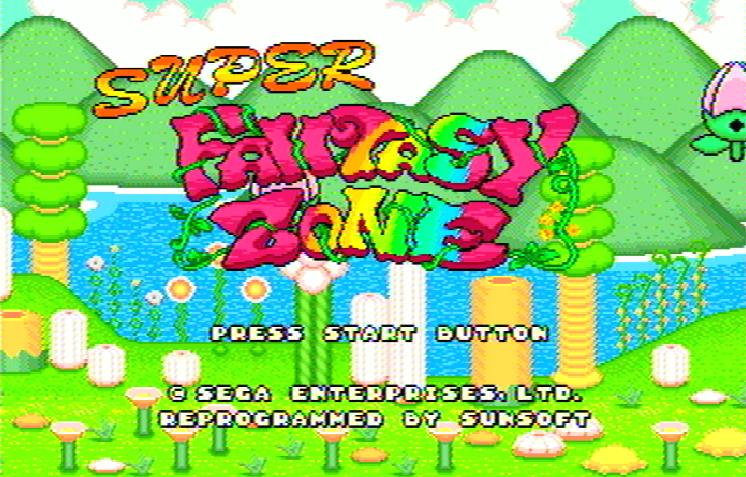 Титульный экран из игры Super Fantasy Zone / Супер Фантазийная Зона