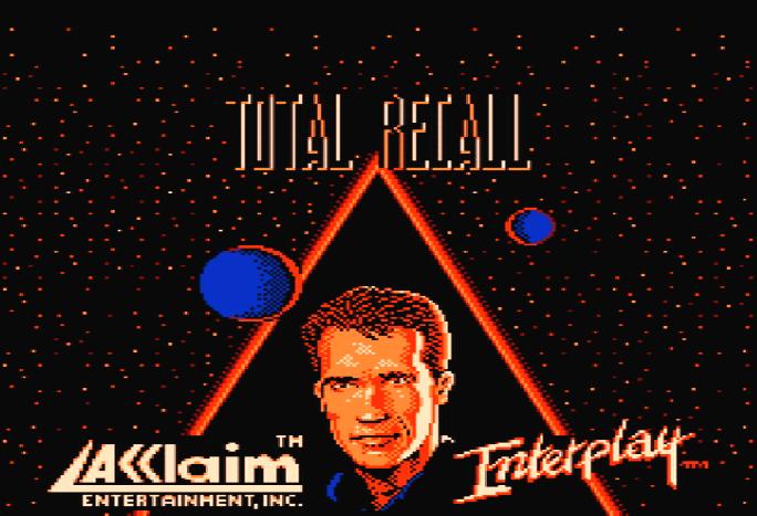 Титульный экран из игры Total Recall / Вспомнить Всё