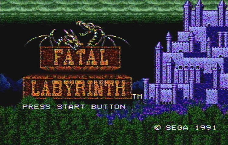 Титульный экран из игры Fatal Labyrinth / Смертельный Лабиринт
